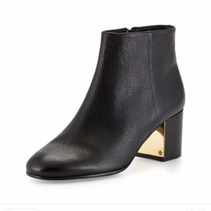 Tory Burch Cleveland black leather Bootie